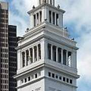 Ferry Building Clock Tower Print by Jo Ann Snover