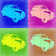 Fiat 500 Pop Art 2 Print by Naxart Studio