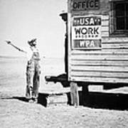 Field Office Of The Wpa Government Agency Print by American Photographer