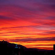 Fiery Sunset Print by Rona Black