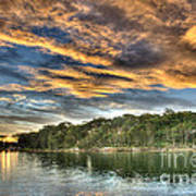 Fingers Of Flame.  Sunset Print by Geoff Childs