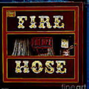 Fire Hose Print by Cheryl Young
