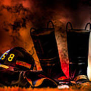 Firefighter Print by Bob Orsillo