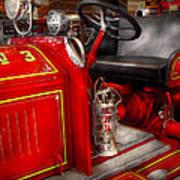 Fireman - Fire Engine No 3 Print by Mike Savad