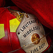 Fireman - Hat - Everyone Loves Red Print by Mike Savad