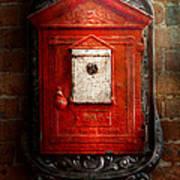 Fireman - The Fire Box Print by Mike Savad