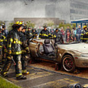 Firemen - The Fire Demonstration Print by Mike Savad
