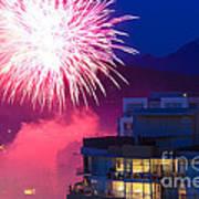 Fireworks In The City Print by Nancy Harrison