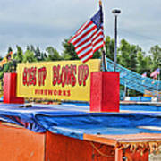 Fireworks Stand Print by Cathy Anderson