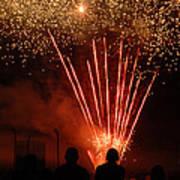 Fireworks Print by Vonnie Murfin