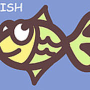Fish Print by Nursery Art