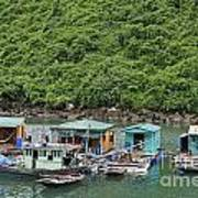 Fisherman Floatting Houses Print by Sami Sarkis