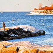 Fishermans Cove Print by Frozen in Time Fine Art Photography