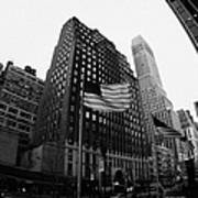 Fisheye View Of 34th Street From 1 Penn Plaza New York City Print by Joe Fox