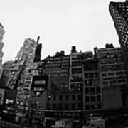 Fisheye View Of 34th Street From 1 Penn Plaza New York City Usa Print by Joe Fox