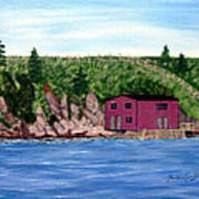 Fishing Gear Stage Print by Barbara Griffin