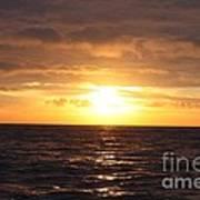 Fishing Into The Sunrise Print by John Telfer