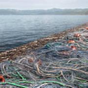 Fishing Nets To Dry Print by Leonardo Marangi