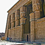 Five Thousand Year Old Temple Of Hathor In Dendera- Egypt Print by Ruth Hager