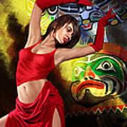 Flamenco Dancer 010 Print by Catf