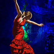 Flamenco Dancer 014 Print by Catf