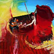 Flamenco Dancer 016 Print by Catf