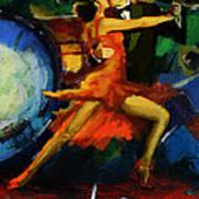 Flamenco Dancer 029 Print by Catf