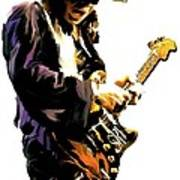 Flash Point     Stevie Ray Vaughan Print by Iconic Images Art Gallery David Pucciarelli