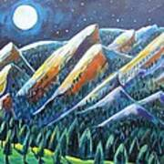 Flatirons In The Moonlight Print by Harriet Peck Taylor