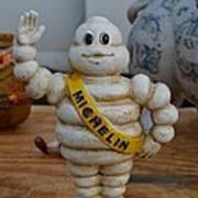 Flea Market Michelin Man Print by Helene Dignard