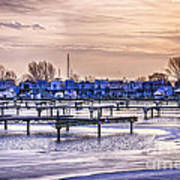 Floating Homes At Bluffers Park Marina Print by Elena Elisseeva