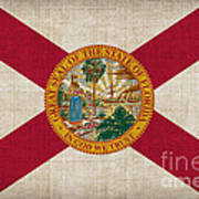 Florida State Flag Print by Pixel Chimp