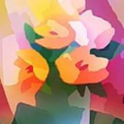 Flower Deco II Print by Lutz Baar