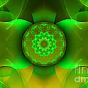 Flowing Green Print by Hanza Turgul