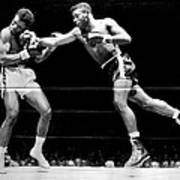 Floyd Patterson Throwing Hard Punch Print by Retro Images Archive