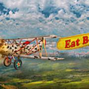 Flying Pigs - Plane - Eat Beef Print by Mike Savad