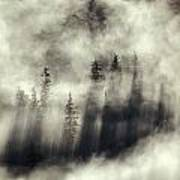 Foggy Landscape Stephens Passage Print by Ron Sanford