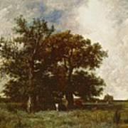 Fontainebleau Oak Print by Jules Dupre