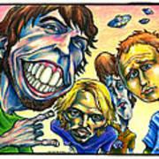 Foo Fighters Print by John Ashton Golden