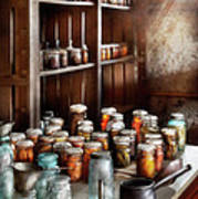 Food - The Winter Pantry  Print by Mike Savad