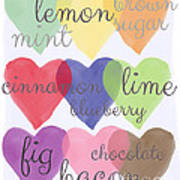 Foodie Love Print by Linda Woods