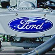 Ford Engine Emblem Print by Jill Reger