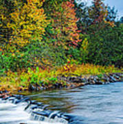 Foretelling Of A Storm Beaver's Bend Broken Bow Fall Foliage Print by Silvio Ligutti