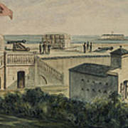 Fort Moultrie Circa 1861 Print by Aged Pixel