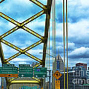 Fort Pitt Bridge And Downtown Pittsburgh Print by Thomas R Fletcher