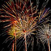 Fourth Of July Fireworks  Print by Saija  Lehtonen