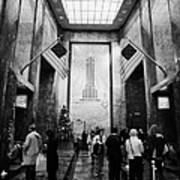 Foyer Of The Empire State Building New York City Print by Joe Fox