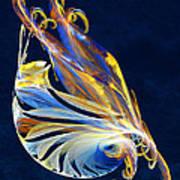Fractal - Sea Creature Print by Susan Savad
