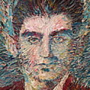 Franz Kafka Oil Portrait Print by Fabrizio Cassetta