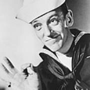 Fred Astaire In Follow The Fleet  Print by Silver Screen